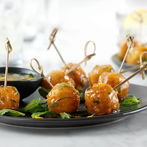 Orange and Mint Salmon Bites