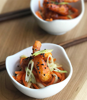 Spice up your summer menu with Korean fried shrimp