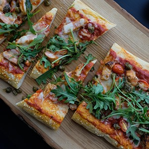 Applewood Salmon Flatbread