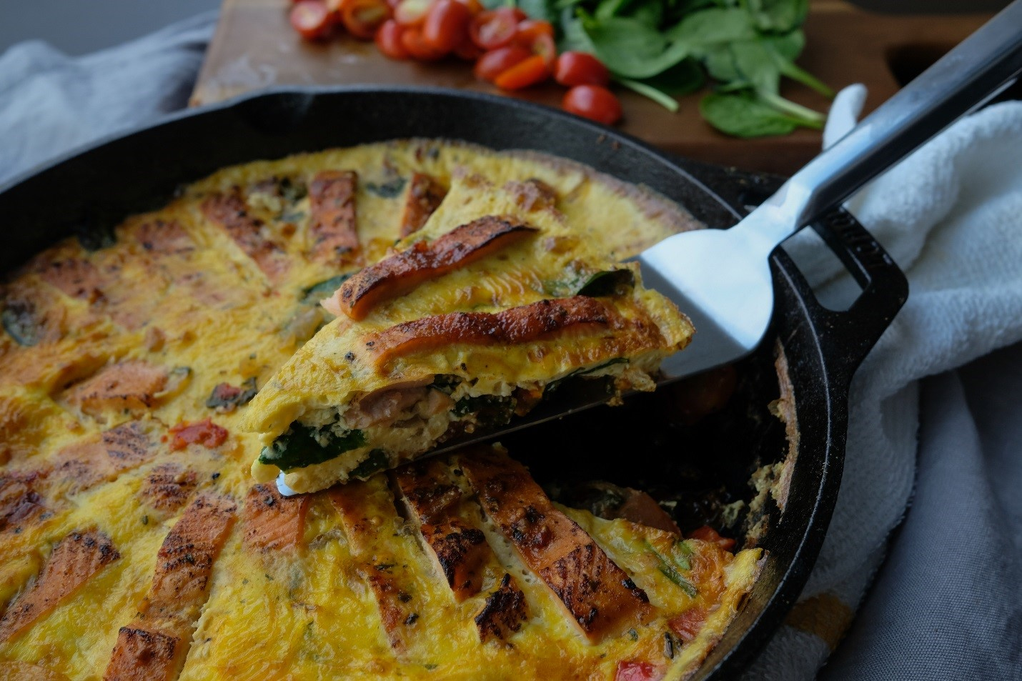 Smokey Applewood Salmon Frittata Recipe to Help Reduce Breakfast Food Costs