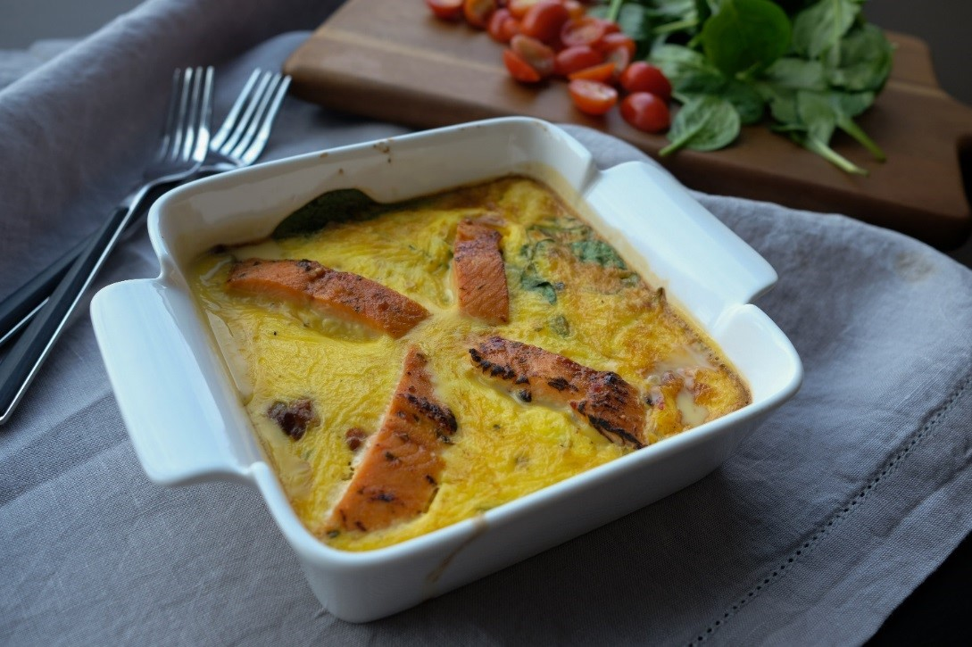 Smokey Applewood Salmon Frittata