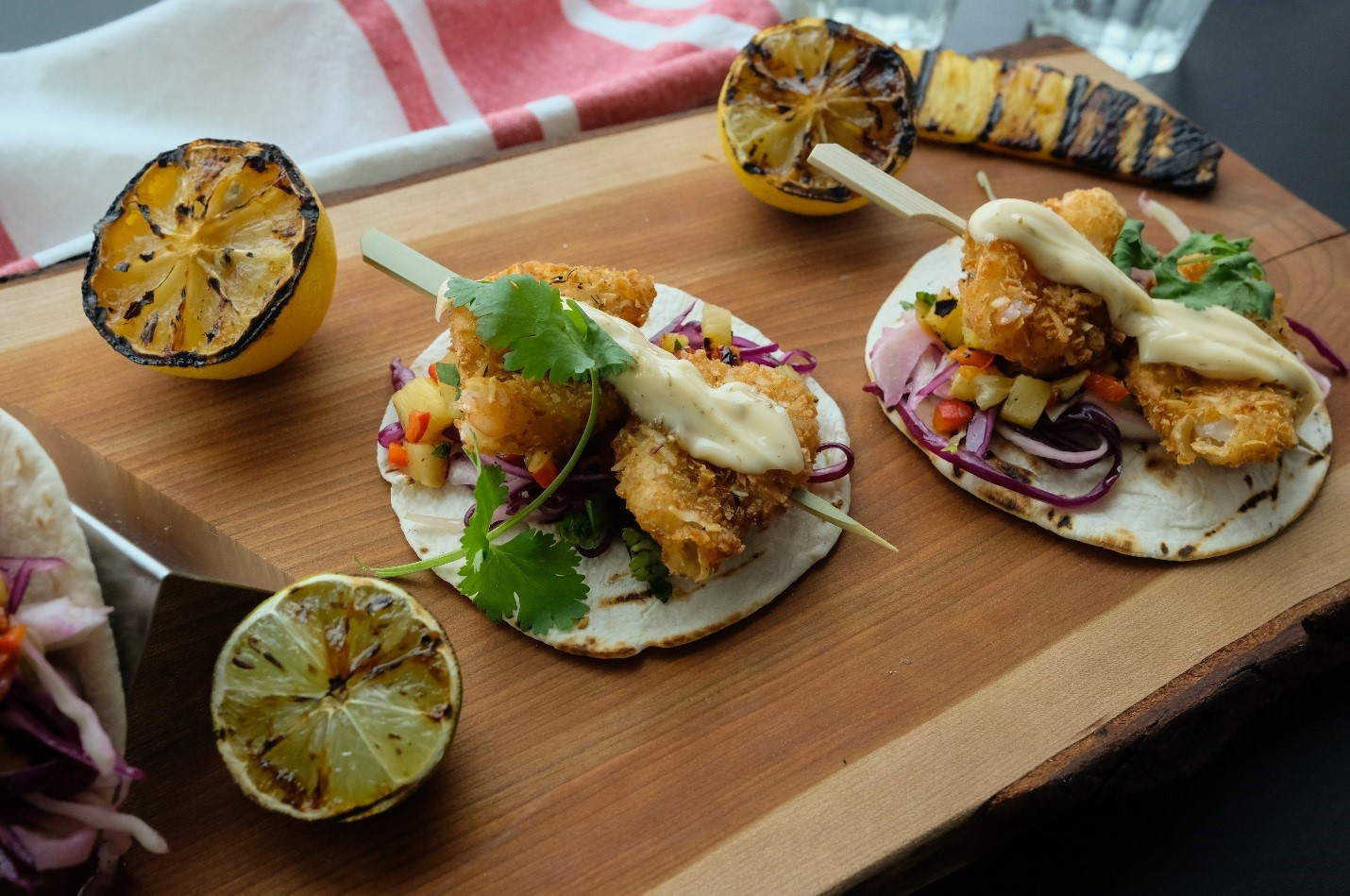 Menu Savings with Craveable Coconut Shrimp Tacos with Jerk Aioli