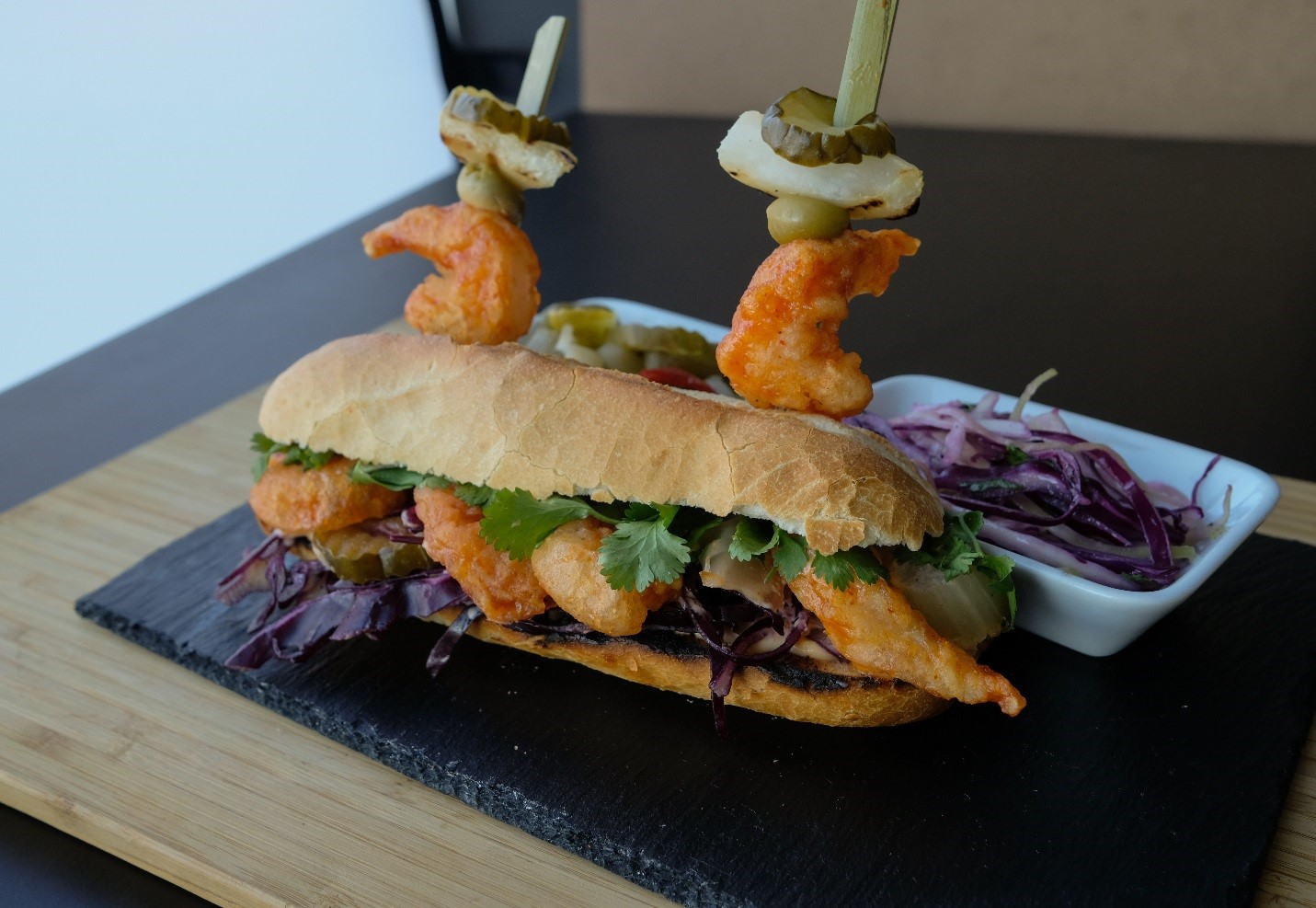 Bam Bam Shrimp Po' Mi Seafood Sandwich Recipe – An East Meets West Fusion Dish!